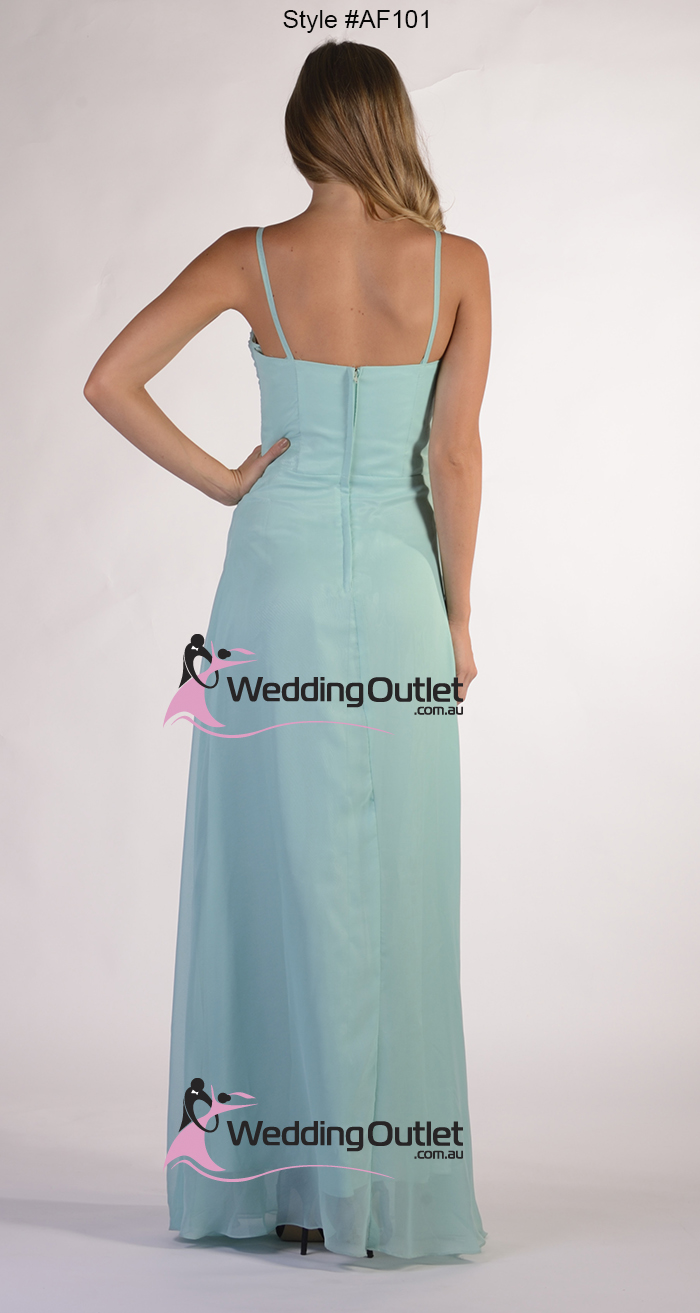 Dusty Blue Bridesmaid Dresses style #AF101