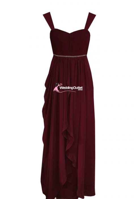 Burgundy Mother of Bride Dresses or Bridesmaid Dress Style #AC1102