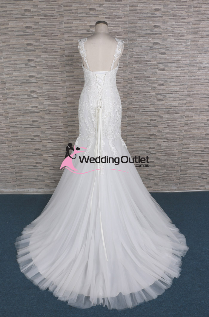 Nora mermaid lace sleeve wedding dresses weddingoutlet for Cheap wedding dress outlets