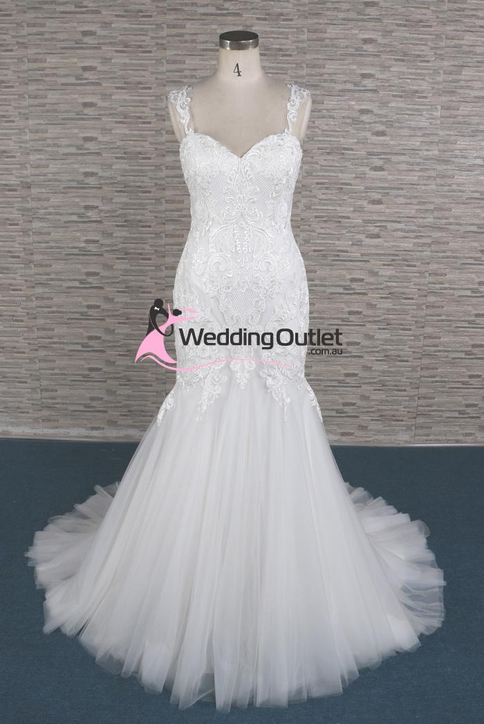 Nora Mermaid Lace Sleeve Wedding Dresses