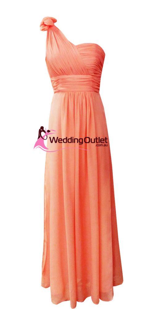 Deep Coral Bridesmaid or formal dress Style #Y101