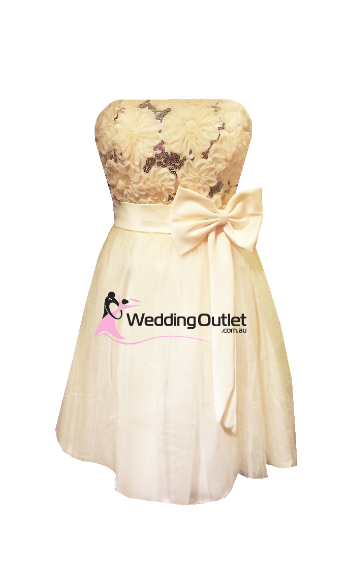 Cream Bridesmaid Short Dress Style M101
