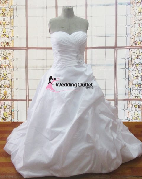 Rochelle ruffle sweet heart wedding dresses