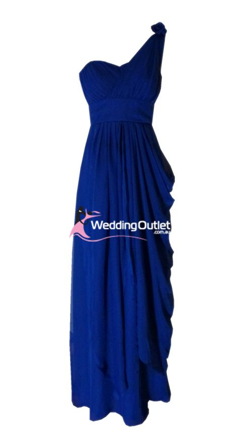 Dark Blue One Shoulder Bridesmaid Dresses Style #C101