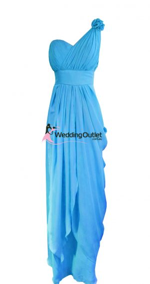 Dodger Blue Bridesmaid Dresses Style #C101