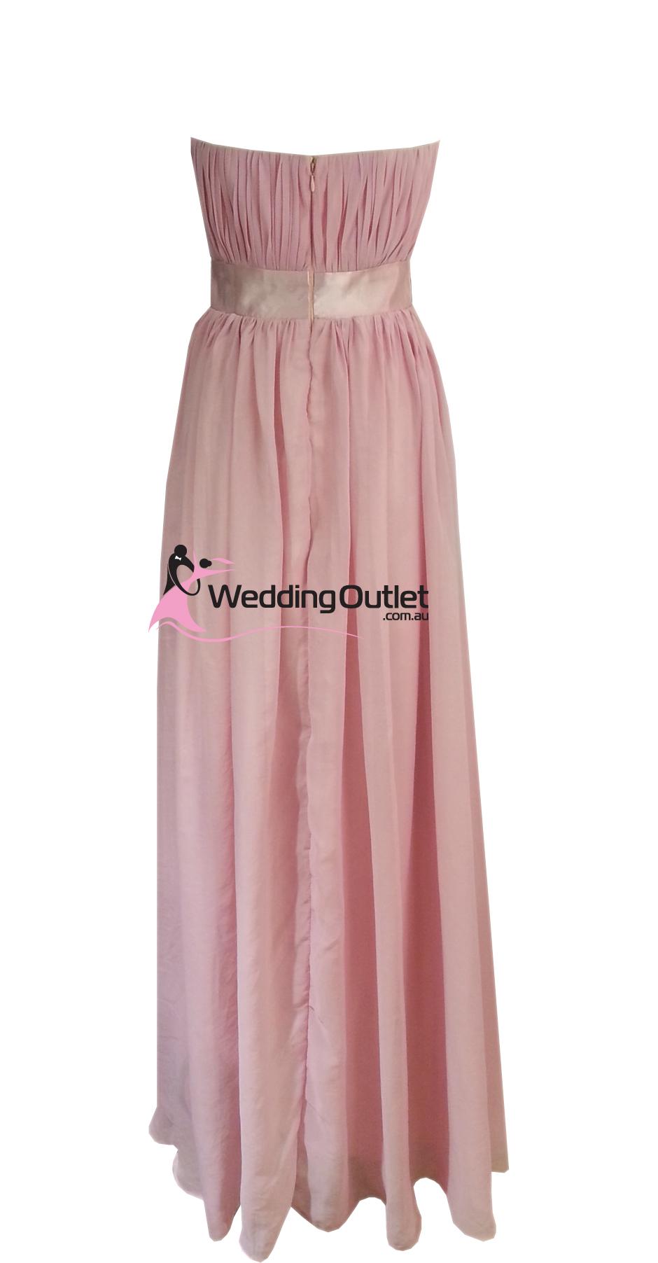 Dusty Pink Strapless Bridesmaid Dresses Style #V101 - WeddingOutlet ...