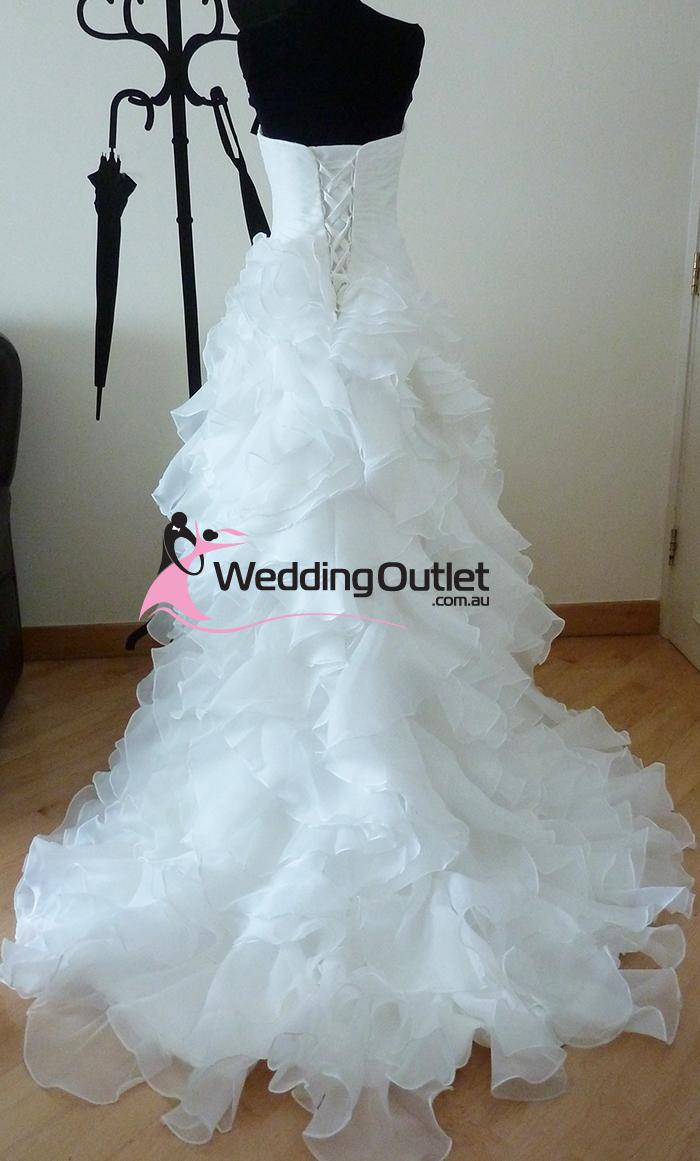 Elenora Ruffle Mermaid Wedding Dresses ab-90 - WeddingOutlet.com.au
