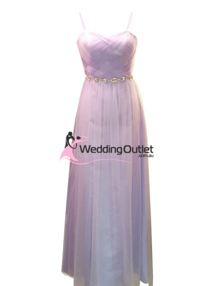 Lilac Purple Evening or Bridesmaid Dress Style #AT101