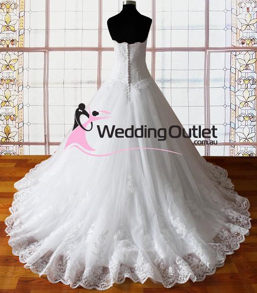 Harper strapless lace princess wedding dresses