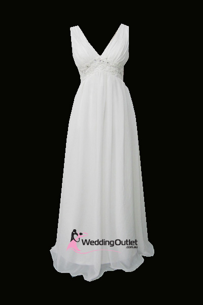 Julia Sleeved Chiffon Simple Wedding Gown