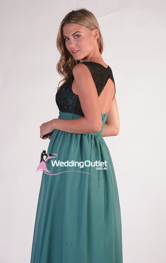 Black Lace Evening Gown Bridesmaid Dresses style #AG101