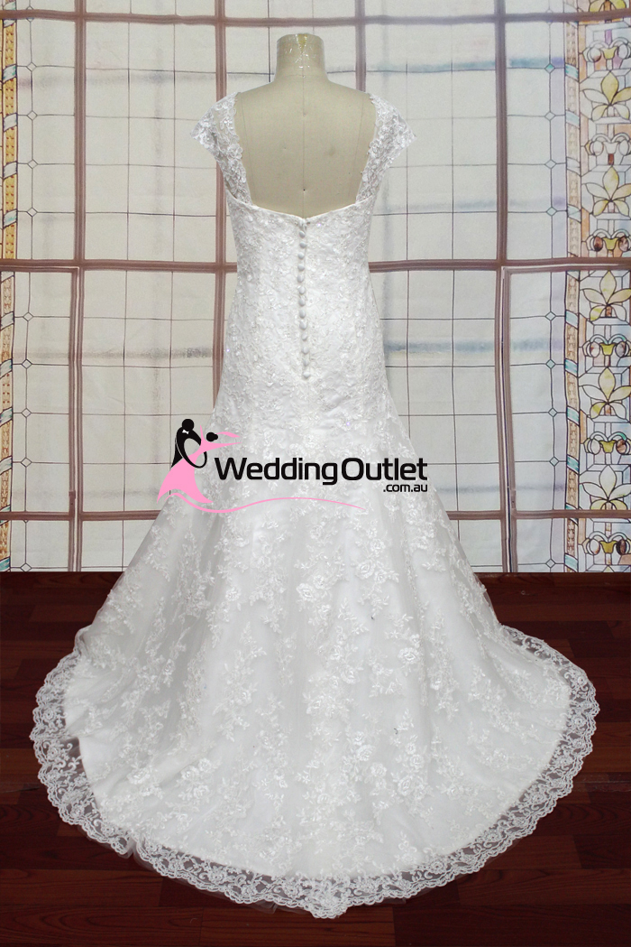 Riley Lace Cap Sleeve Sweetheart Wedding Gown