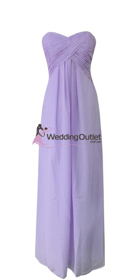 Lavender Purple Strapless Bridesmaid Dresses Style #R101