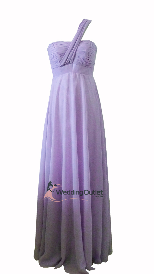 Lavender Purple Bridesmaid dress one shoulder Style #B9190 ...