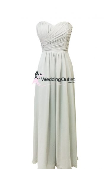 Light Grey Bridesmaid Dresses Style #AB101