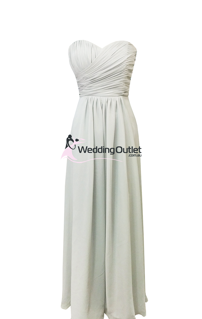 Light grey bridesmaid dresses style ab101 weddingoutlet for Light grey wedding dress