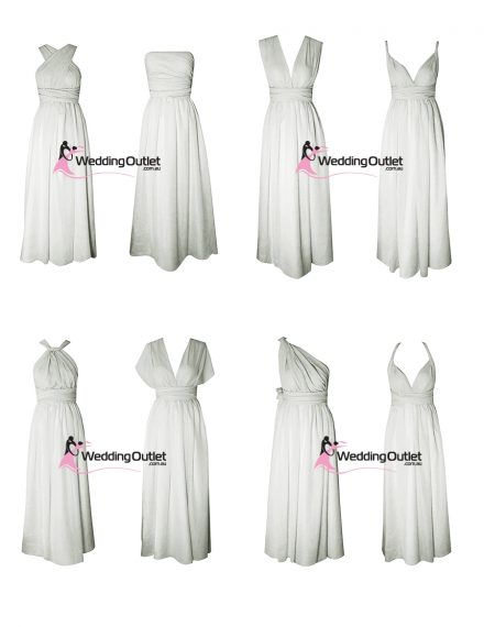 Eight Way Twist and Wrap dress Light Grey style #U101