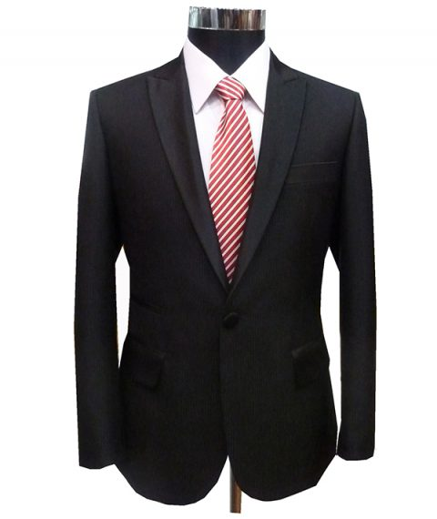 Black Suit for Groom or Groomsmen Wedding