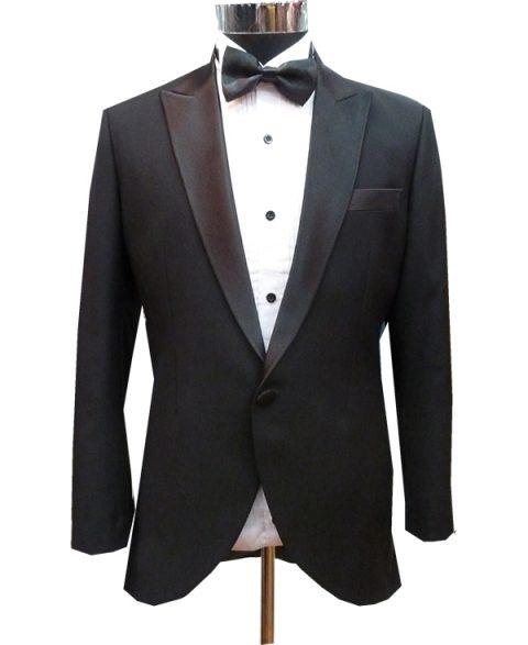 Black Suit for Groomsmen or Groom Stylish Longish Back