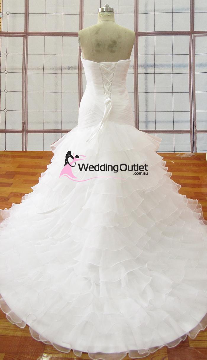 Melanie Mermaid Ruffle Wedding Dress