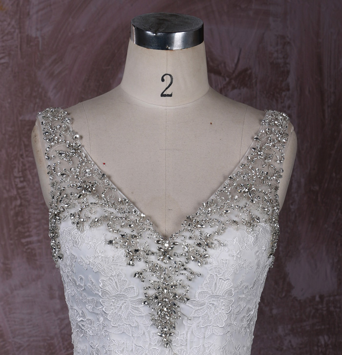 Serena Trumpet Mermaid Lace Wedding Gown with Sleeves