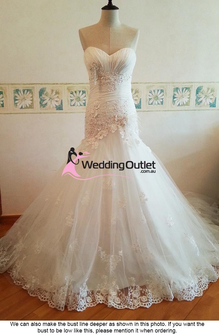 Gemma mermaid lace wedding gown