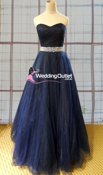 Midnight blue ball gown or wedding dress style #AV101