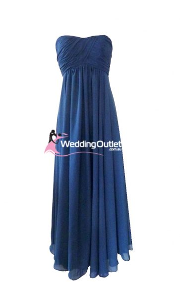 Midnight blue bridesmaid dress style #J101