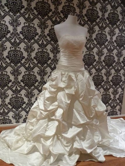 Elizabeth ruffle wedding gown fl-816