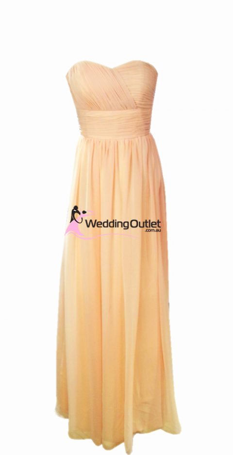 Apricot Peach Bridesmaid Dresses Style #O101