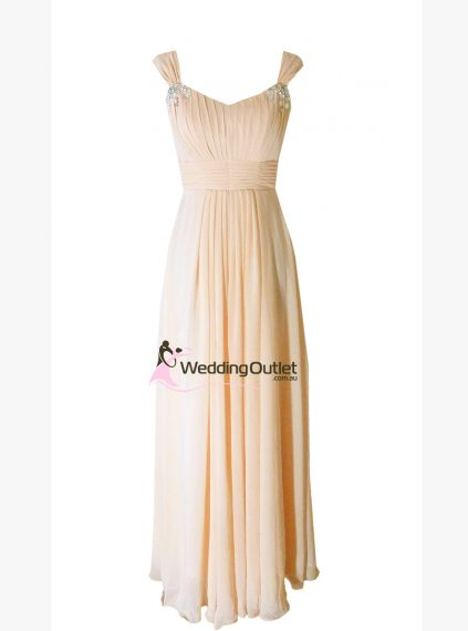 Baby Peach Bridesmaid Dress style #A1029