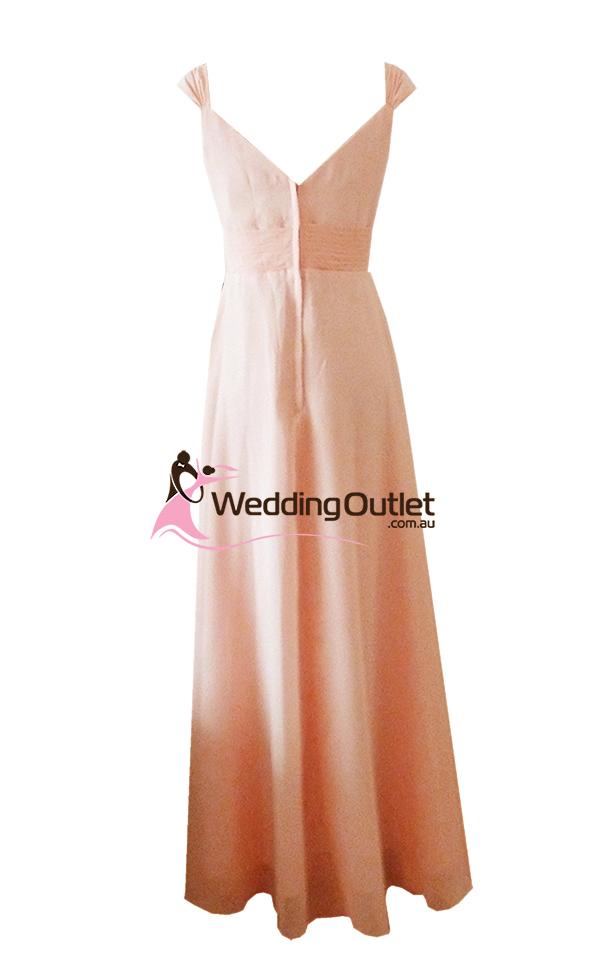 Dusty Rose Cap Sleeve Bridesmaid Dresses Style #A1029