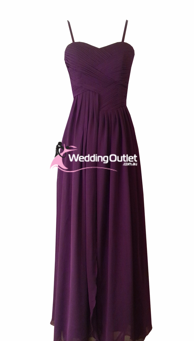 Plum purple bridesmaid dresses style af101