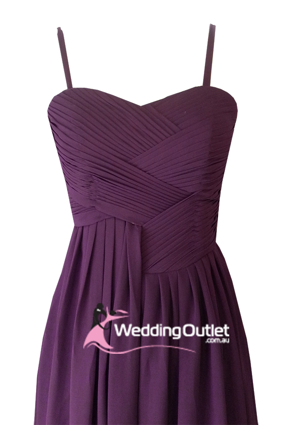 Plum Purple Cocktail Bridesmaid Dresses Style #AF101