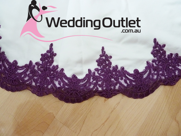 Scarlett Purple and White Wedding Dress