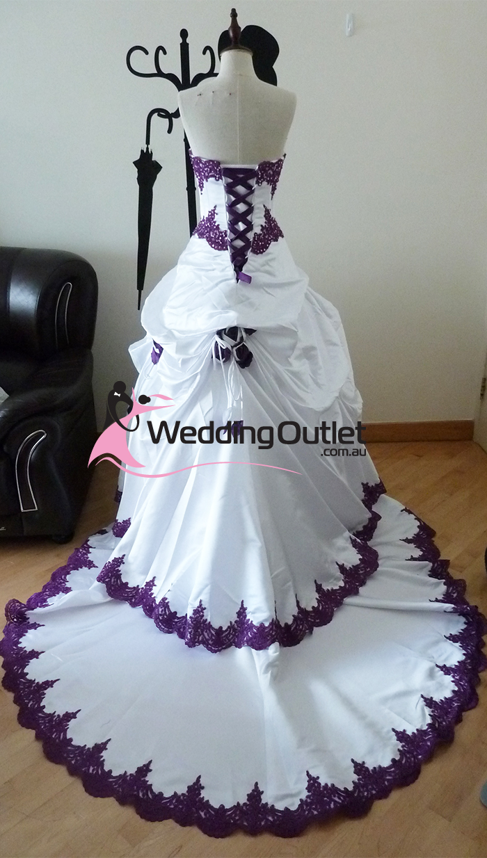 Purple And White Beach Wedding Dresses 87
