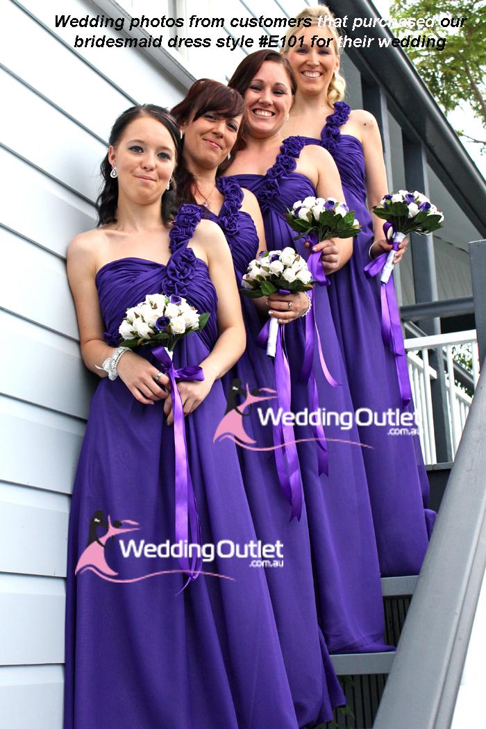 Burgundy Bridesmaid Dress Style #E101 - WeddingOutlet.com.au