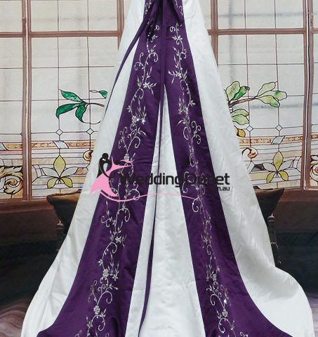 Emily purple and white wedding dress weddingoutlet emily purple and white wedding dress junglespirit Images