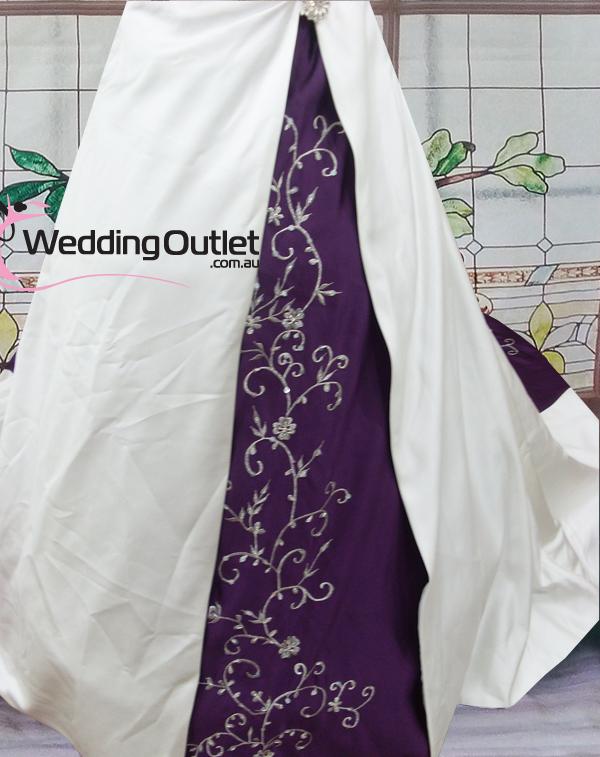 Emily Purple And White Wedding Dress