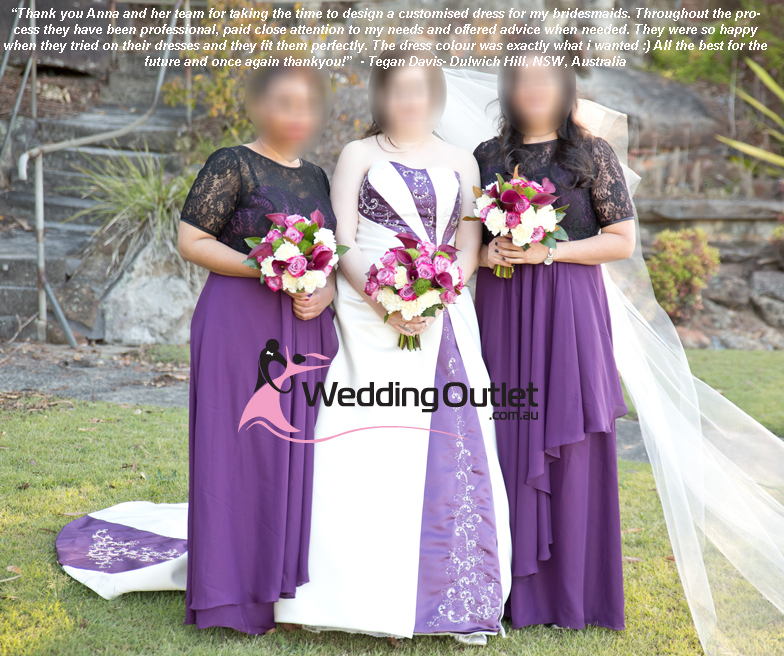 Emily Purple And White Wedding Dress - WeddingOutlet.com.au