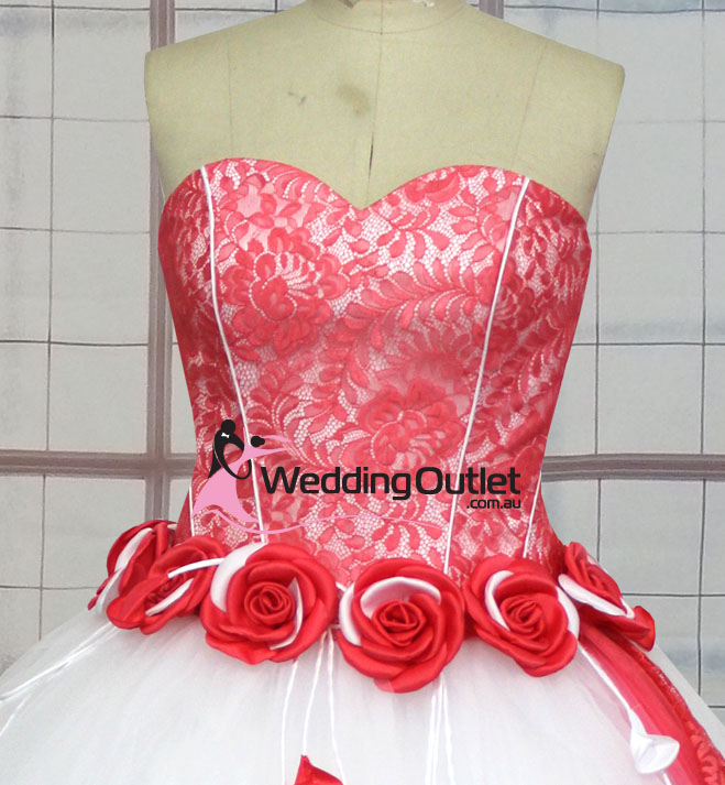 Taylor Red and White Wedding Dresses