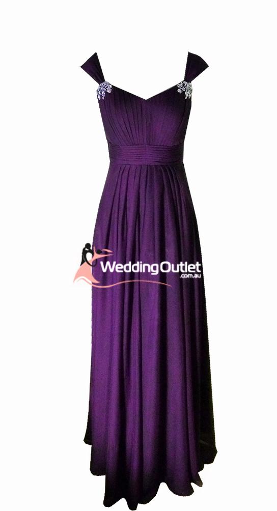 Acai Purple Bridesmaid Dresses Style #A1029 - WeddingOutlet.com.au