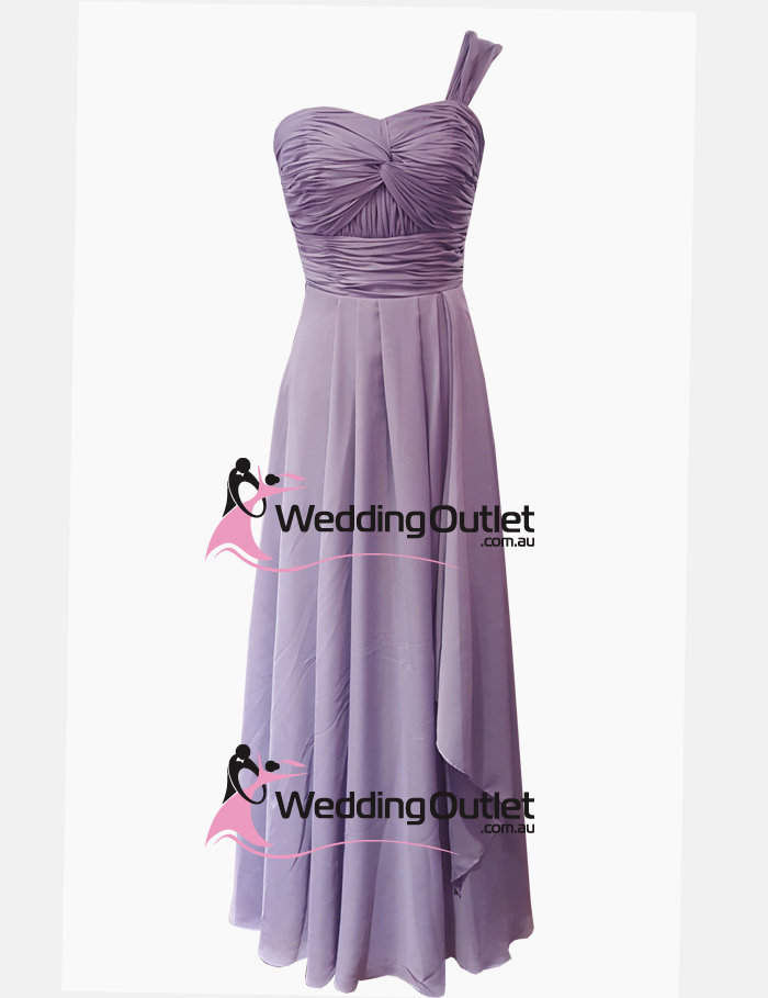 Royal Purple One Strap Bridesmaid Dresses Style #AO101