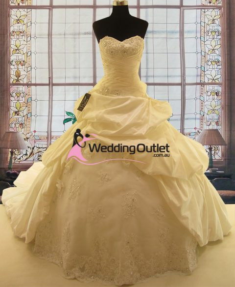 Destiny Ruffle Lace Ball Gown