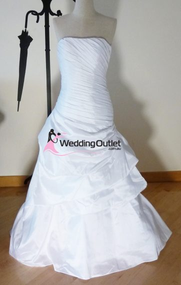 Victoria ruffle mermaid wedding dress