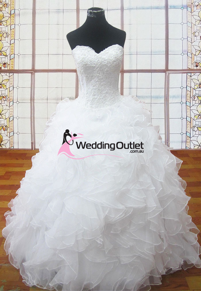 Judith ruffle lace wedding gowns