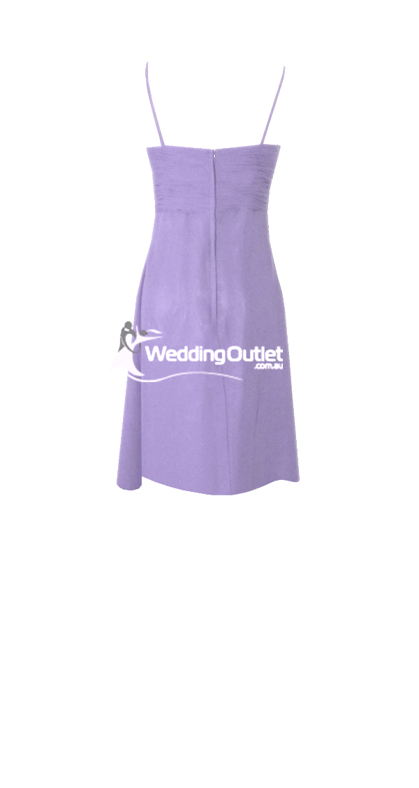 Lavender Purple Short Cocktail Bridesmaid Dresses Style #K101