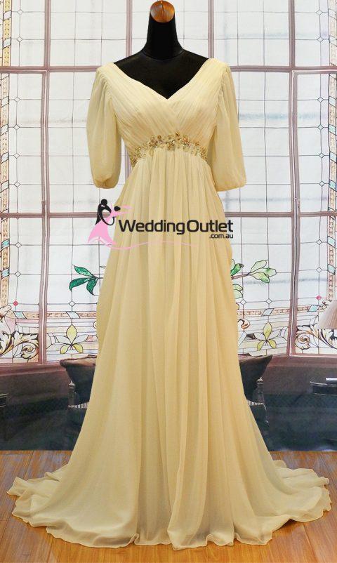 Amanda Sleeved Chiffon Wedding Dress