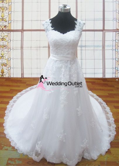 Lesley Lace Sleeved Wedding Gowns