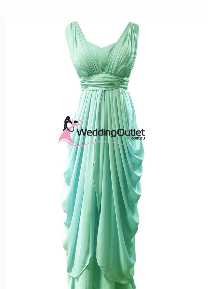 Mint Green Bridesmaid Dress Style #AU101